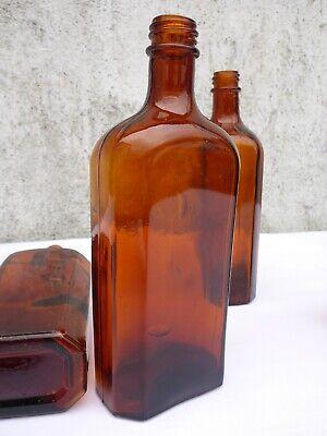 5 x alte braune Medizin Glas Apotheke Apotheker Flasche 250 ml ca. 17,0 cm braun 7