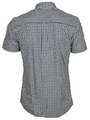 Jack & Jones Mens Short Sleeve Shirts Casual Slim Fit Check Size S,M,L,XL 4