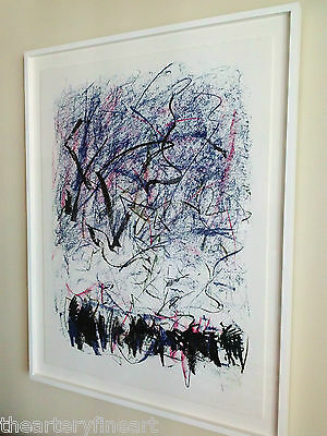 JOAN MITCHELL 'Bedford III' 1981 SIGNED Lithograph Limited Edition Print Framed 4