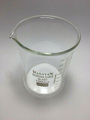 1000ml Beakers Low Form Borosilicate Glass Graduated chemistry Laboratory - 1pc 3