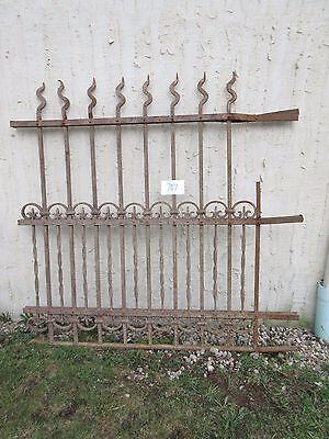 Antique Victorian Iron Gate Window Garden Fence Architectural Salvage Door #707 3