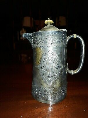 Antique Ornate Silverplated Creamer Pitcher 3