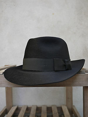 03b2d39f460 1 of 4FREE Shipping Black Fur-Felt Fedora Trilby Hat by Christys  of London  - 100% fur