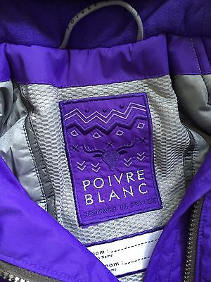 Poivre Blanc Girls Ski Jacket 4 years/104cm Grape Brand New + Tags RRP £173 4