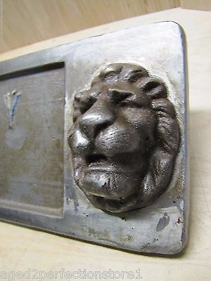 Old Double Lions Head Architectural Building Number 'Thirty Five' Marker Sign 8