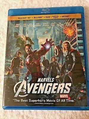 The Avengers (Blu-ray 3d DVD, 2012, 4-Disc Set 3