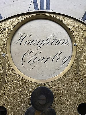 Oak 30 Hour Grand Father Clock By Houghton Of Chorley false 8day dial 4