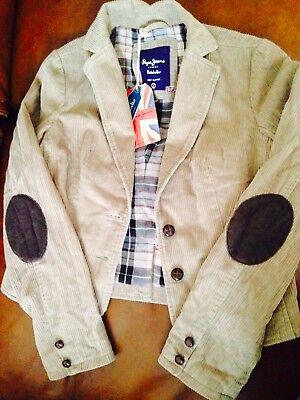 7e5757912701 ... Pepe Jeans Veste Velours Femme Beige Taille S Neuf Avec Etiquette 3