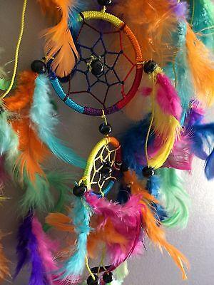 Capteur de rêves attrape rêves dreamcatcher 7 chakras perles en bois N°3