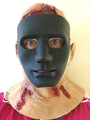 Copricapo Jason Sanguinoso Maschera Cappuccio Latex Costume di Halloween Horror 4
