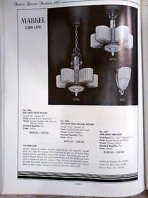 Markel 6 Light Chandelier 100% Restored Industrialized  Edison St64 60w Bulbs 9
