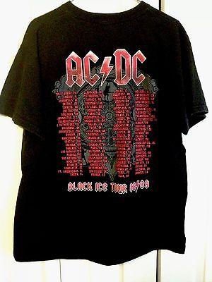 AC/DC T Shirt Large Black Ice Tour 2008 2009