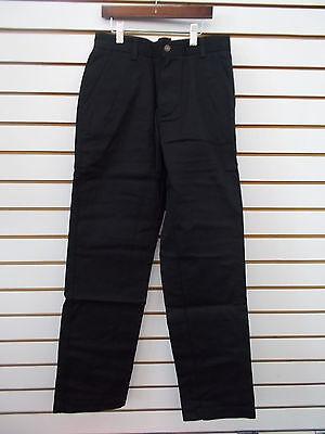 Navy Teen Boys IZOD Uniform//Casual Khak or Black Fl Ft Pants Sz 28X30-42X30