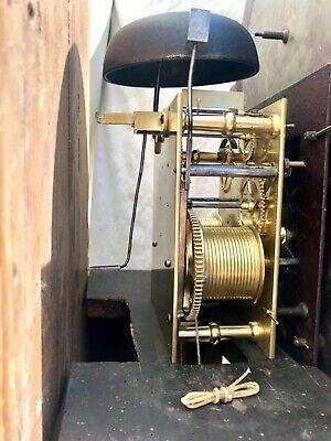 Antique Rolling Moon Phase Oak Mahogany Longcase Grandfather Clock HAYES WREXHAM 12