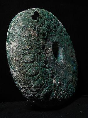 Zurqieh - Beautiful Roman Bronze Oil Lamp With Plate, 100 - 200 A.d 9