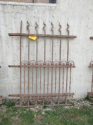 Antique Victorian Iron Gate Window Garden Fence Architectural Salvage Door #306 5