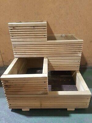 Handmade Large Corner Decking 4 tier wooden garden planter 3
