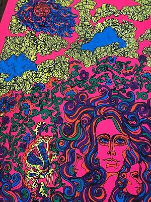 PURPLE PASSION LOVE 1970/'s VINTAGE BLACKLIGHT NOS POSTER SEX NICE!