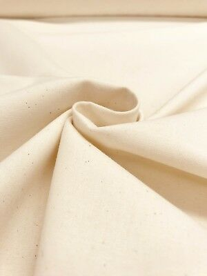 "Pre-Shrunk QUILTERS CALICO Natural Flecked Cotton 62"" Wide Fabric Material 4"