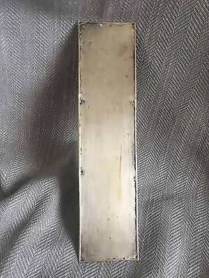 Antique Brass Finger Plate Push Door Plain Simple Reclaimed Salvaged 2