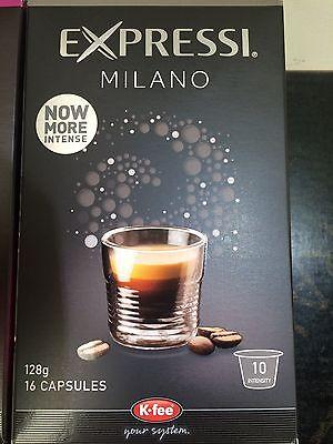 Expressi K-fee Coffee Machine Capsules Pods ALDI 80 caps (5 boxes) u choose 5