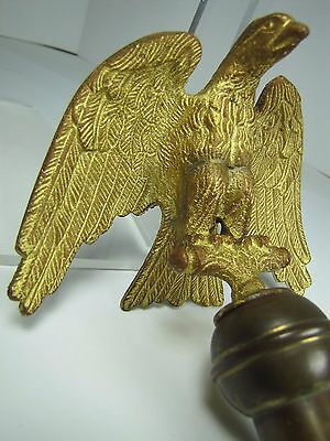 Antique Bronze EAGLE Finial Gold Gilt ornate detail old architectural hardware 4