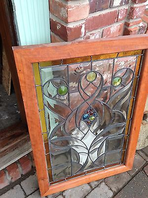 Very Attractive Jeweled Into The Point Beveled Window Sg 43