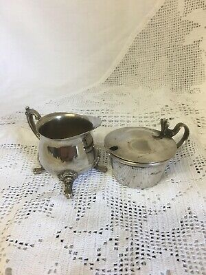 Antique Silver Plated Elegant Mustard Pot with Spoon and an Ornate Cream Jug 8