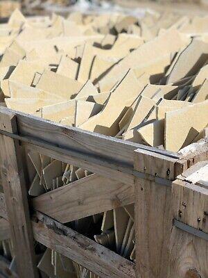 Toscana Polygonalplatten 10 m² Naturstein Terrassenplatten crema Bad Dusche WC