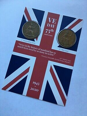 VE DAY FLAG 75th Anniversary Victory in Europe - Coins -1939 & 1945 8th May 2020 4