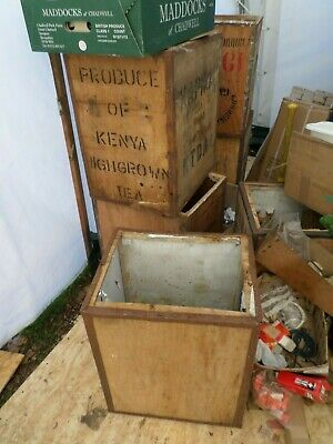 one Vintage Tea Chest over 50 available