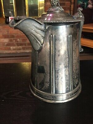 Antique 1858 Meriden Britannia Victorian Silverplated Double Wall Pitcher 5
