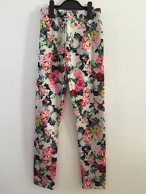 Girls ex River Island Kids Floral Draping Trousers in Pink 2