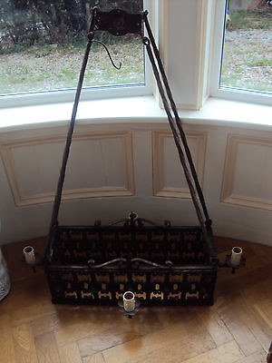 Arts&Crafts Medieval Castle Gothic Wrought Iron Chandelier,black,Harry Potter 8