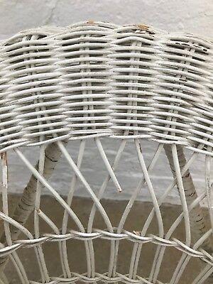 Vintage Children's Wicker White Chair, Good Condition! $150 4