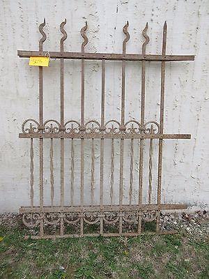 Antique Victorian Iron Gate Window Garden Fence Architectural Salvage Door #308 5