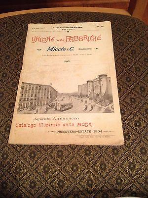 Unione Delle Fabbriche (Primavere Estate 1904) Napoli..Agenda Almanacco (Rare) 3