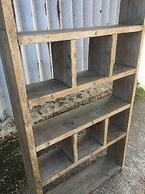 Industrial Up-Cycled Pigeon Hole Shelving Unit 3