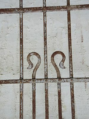 Antique Victorian Iron Gate Window Garden Fence Architectural Salvage Door #66 5