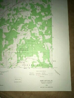 East Butler PA Bulter County USGS Topographical Geological Survey Quadrangle Map 5