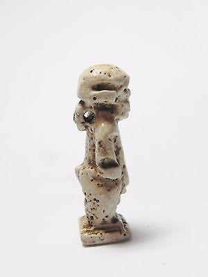 Zurqieh -Q252- Ancient Egypt , Faience Pataikos Amulet. 1075 - 600 B.c 2