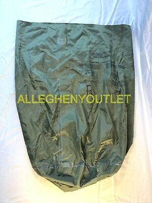 US Military Surplus Army Waterproof Wet Weather Laundry Clothing Bag Sack MINT