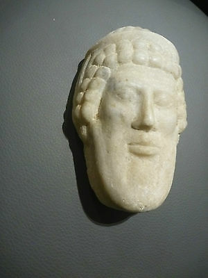 A Roman / Greek   Marble Head Of Hermes ? Propylaios  ??  Circa 1St Century B.c. 8