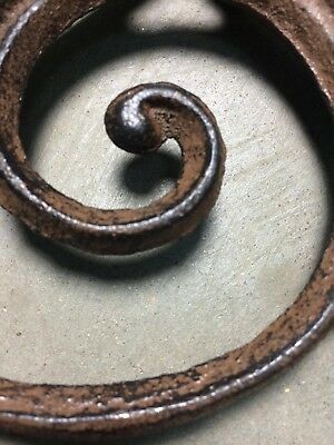 SET OF 4 RUSTIC  BROWN SCROLL BRACE/BRACKET vintage looking patina finish 7