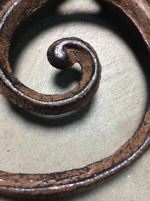 SET OF 4 RUSTIC BROWN SCROLL BRACE SHELF BRACKET vintage style 7