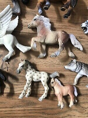 19 x Bullyland Wild Animals Figures Joblot Horses Tigers Lions Wolves Unicorns 7