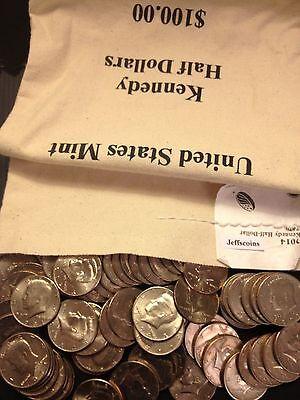 1971 - 2018 PD Kennedy Half Dollar 100 Coin Lot 2x Silver 90% 40% +U.S. Mint Bag 4
