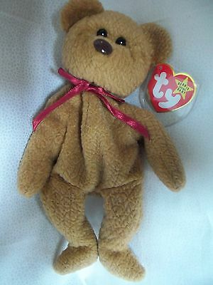 "TY Beanie Babies 8"" Teddy Bear ** CURLY**  4th Gen New w/ Tag"