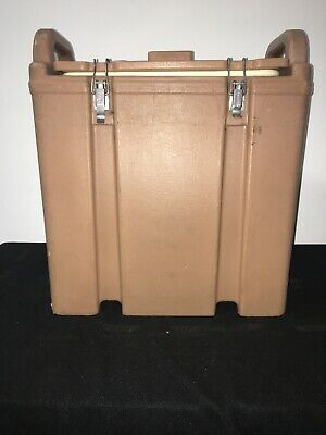 Cambro Tan Insulated Soup/Beverage Carrier 350LCD 3.3/8 Gallon Capacity. #1L 3
