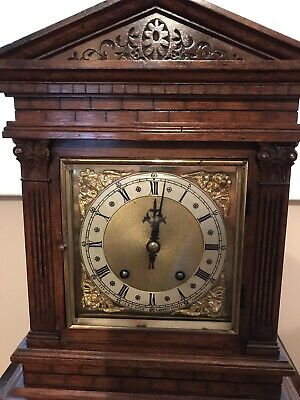 Antique Bracket Clock Winterhalder & Hofmeier Ting Tang Clock 4